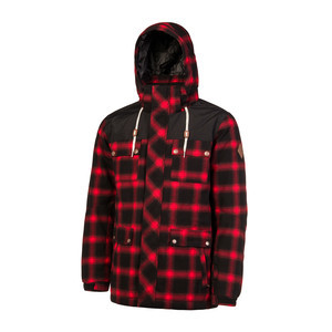 Protest Remain Snowboard Jacket - Red Burn