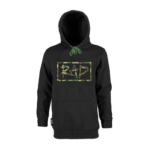 RAD Logo Hoodie – Black/Camo