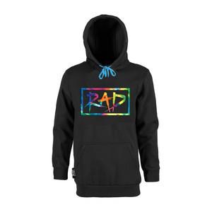 RAD Logo Hoodie – Black/Rainbow