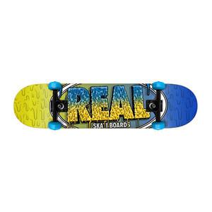 "Real Slime Fades 7.38"" Mini Complete Skateboard"