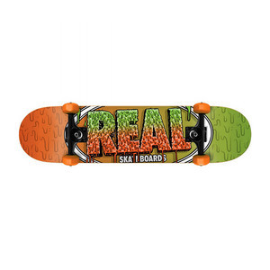 "Real Slime Fades 7.5"" Complete Skateboard"