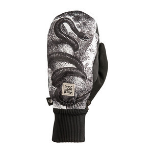 Rome Snake Men's Snowboard Mitts - Black/White