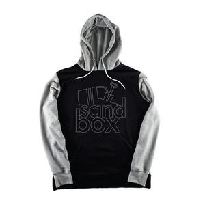 Sandbox Team Stacked Hoodie — Black/Grey
