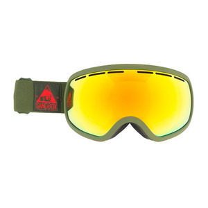 Sandbox Boss Goggle - Army / Red Chrome + Bonus Yellow Lens
