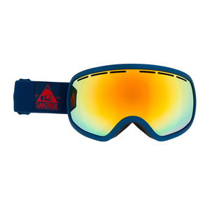 Sandbox Boss Goggle - Navy / Red Chrome + Bonus Yellow Lens