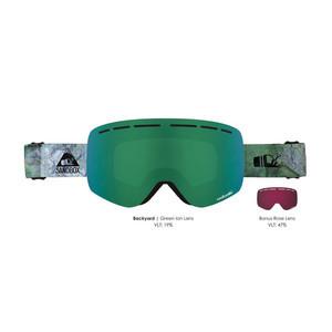 Sandbox Kingpin Snowboard Goggle 2019 - Backyard / Green Ion + Bonus Lens