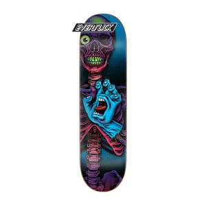 """Santa Cruz Hand Crew Braun 8.25"""" Skateboard Deck - Everslick"""