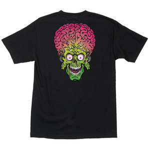 Santa Cruz x Mars Attacks Martian Face T-Shirt - Black