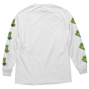 Santa Cruz x TMNT Sewer Dot Long Sleeve T-Shirt - White
