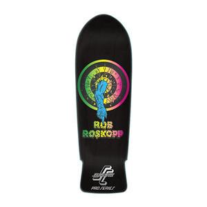 "Santa Cruz Roskopp Target 1 Re-Issue 10"" Skateboard Deck - Black Stain"