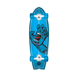 "Santa Cruz Screaming Hand Shark 8.8"" x 27.7"" Cruiser Complete Skateboard"