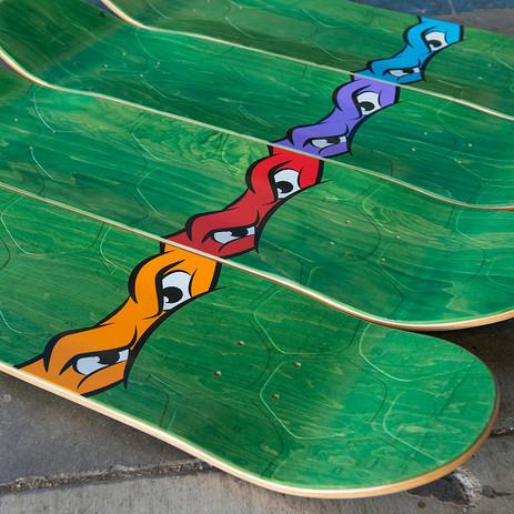"Santa Cruz x TMNT Leonardo 8.375"" Skateboard Deck"