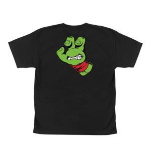 Santa Cruz x TMNT Turtle Hand Youth T-Shirt - Black / Red