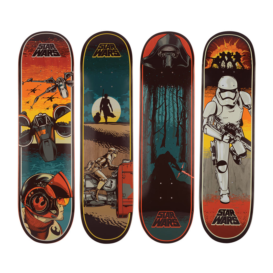 skateboard star wars