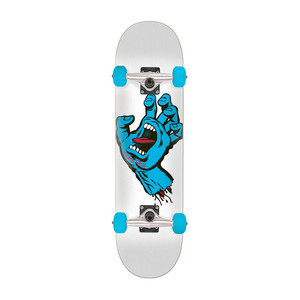 "Santa Cruz Screaming Hand 7.5"" Complete Skateboard - White"