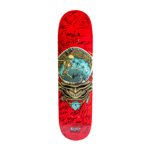"Powell-Peralta Pool Skull 8.25"" Skateboard Deck (#1) - Signed by Tony Hawk & BOWL-A-RAMA Competitors"