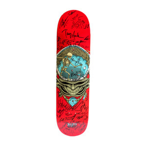 "Powell-Peralta Pool Skull 8.25"" Skateboard Deck (#2) - Signed by Tony Hawk & BOWL-A-RAMA Competitors"