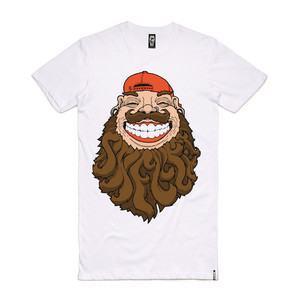Skelter Beardfear Tall T-Shirt - White