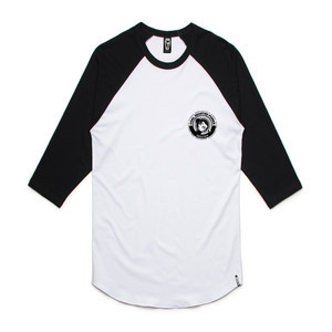 Skelter Coal Hearted Punks Raglan Shirt - White/Black