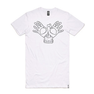 Skelter Skullifly Tall T-Shirt - White