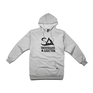 Snowboard Addiction Hoodie - Grey