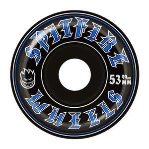 Spitfire Old English 99D 53mm Skateboard Wheels - Black