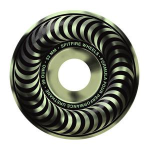 Spitfire Stay Lit 53mm Skateboard Wheels - Glow in the Dark Swirl