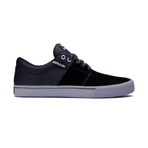Supra Stacks Vulc II Skateboard Shoe — Black/Grey
