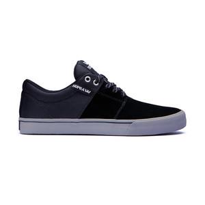 Supra Stacks Vulc II Skateboard Shoe — Black/Grey