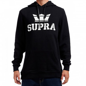 Supra Above Pullover Hood - Black/White