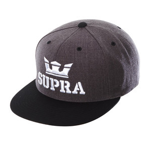 Supra Above Snapback Hat - Charcoal Heather/Black