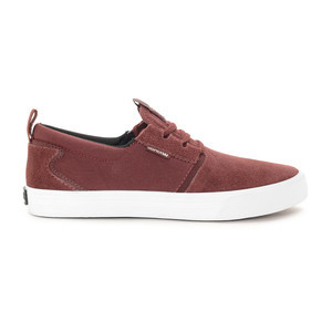 Supra Flow Skate Shoe – Burgundy/White