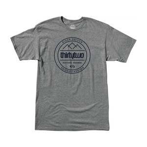 ThirtyTwo Crestline Crew T-Shirt — Grey