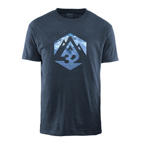 ThirtyTwo Ridelite Graphic T-Shirt - Blue/Heather