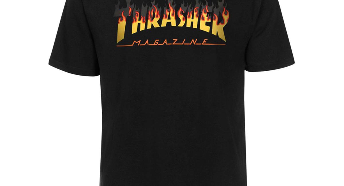 bf325efd66 Thrasher BBQ Flame T-Shirt - Black | BOARDWORLD Store