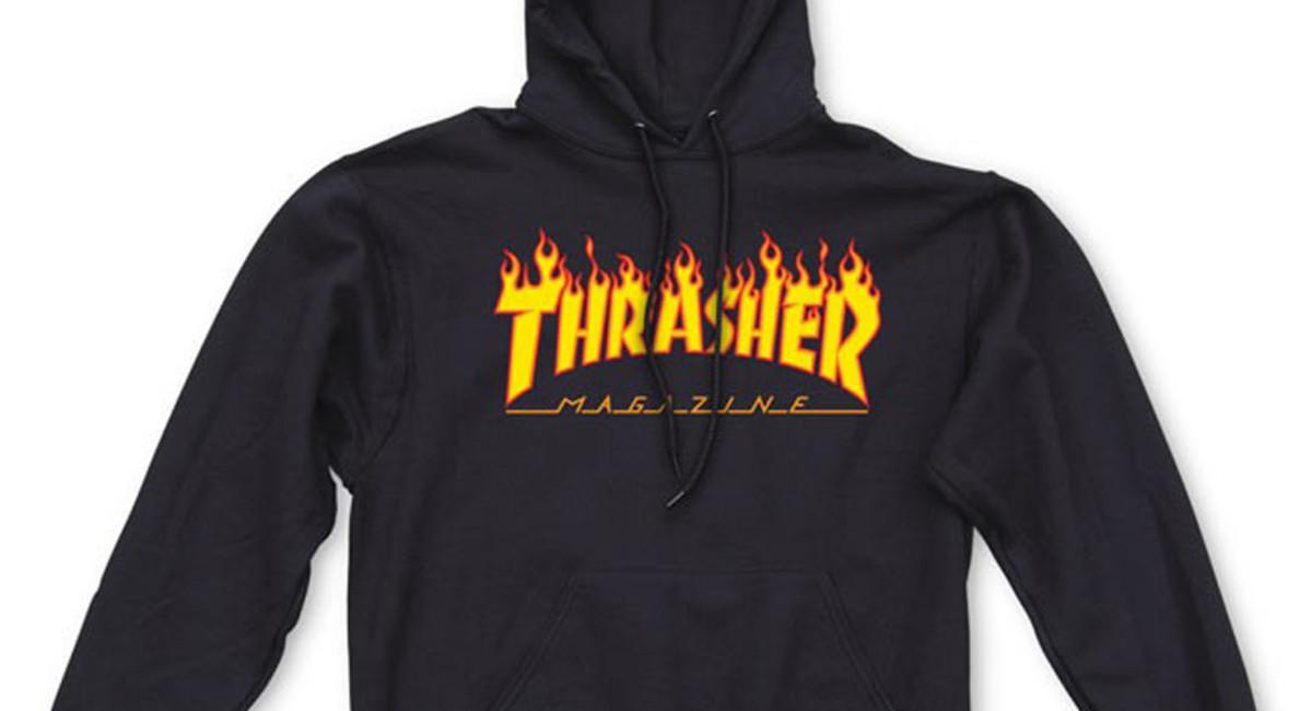 Thrasher Flame Hoodie - Black  9943a43f3150