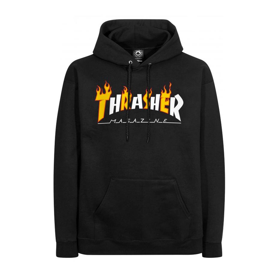 865f6a0a3613 Thrasher Flame Mag Hoodie - Black