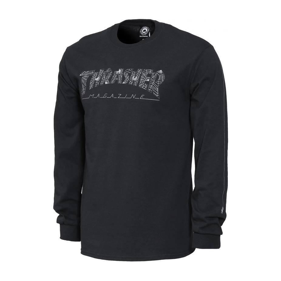 f0a5cf977ca0 Thrasher Web Long Sleeve T-Shirt - Black