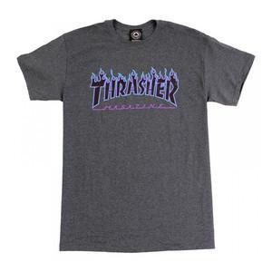 Thrasher Flame T-Shirt - Dark Heather Grey