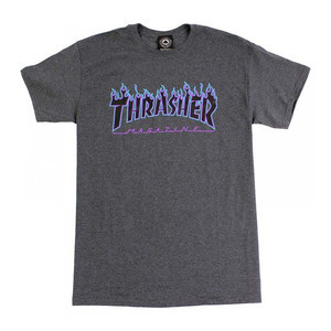 Thrasher Flame T-Shirt - Dark Heather Grey