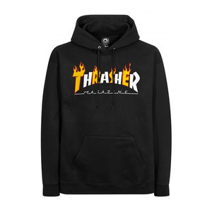Thrasher Flame Mag Hoodie - Black