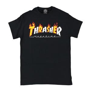 Thrasher Flame Mag T-Shirt - Black