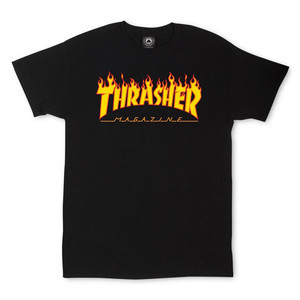 Thrasher Flame T-Shirt — Black