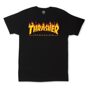 Thrasher Flame T-Shirt — Black