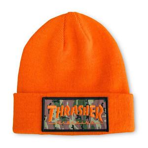 Thrasher Patch Beanie — Orange