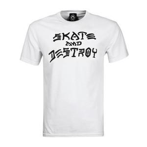 Thrasher Skate and Destroy T-Shirt — White
