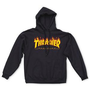 Thrasher Flame Hoodie - Black