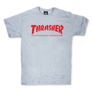 Thrasher Skate Mag T-Shirt — Grey/Red