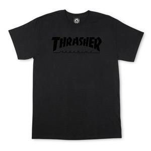 Thrasher Skate Mag T-Shirt - Black/Black