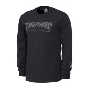 Thrasher Web Long Sleeve T-Shirt - Black